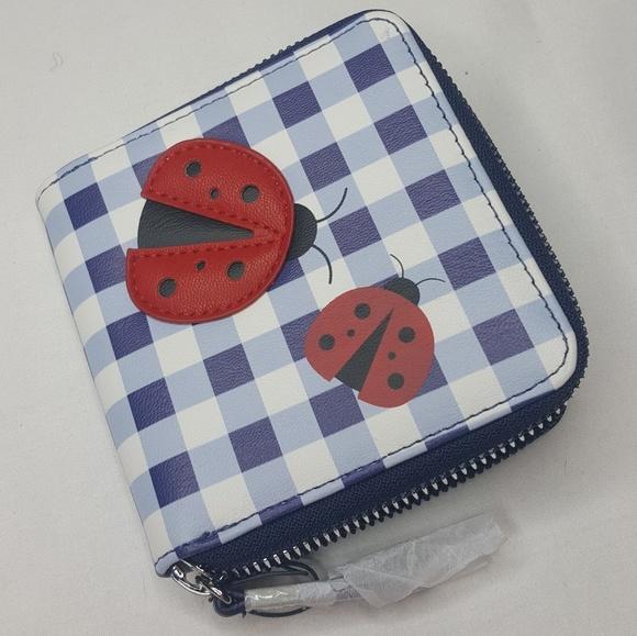 Minicci Handbags - 4/$25 Ladybug Wallet Purse Bag Zipper Blue Red